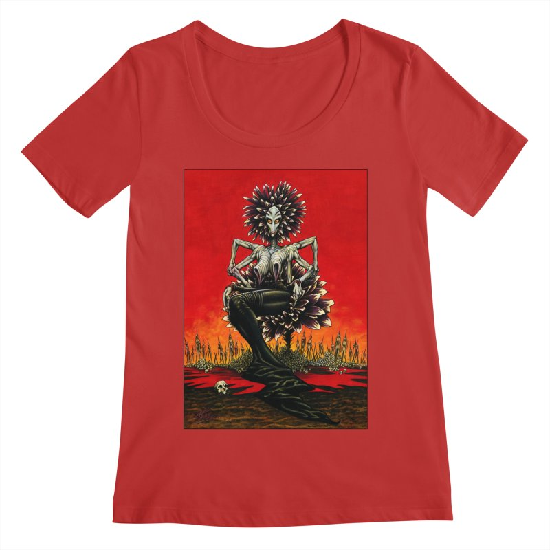 The Pain Sucker Goddess Women's Regular Scoop Neck by Ferran Xalabarder's Artist Shop