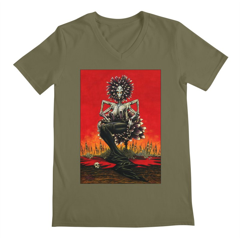 The Pain Sucker Goddess Men's Regular V-Neck by Ferran Xalabarder's Artist Shop
