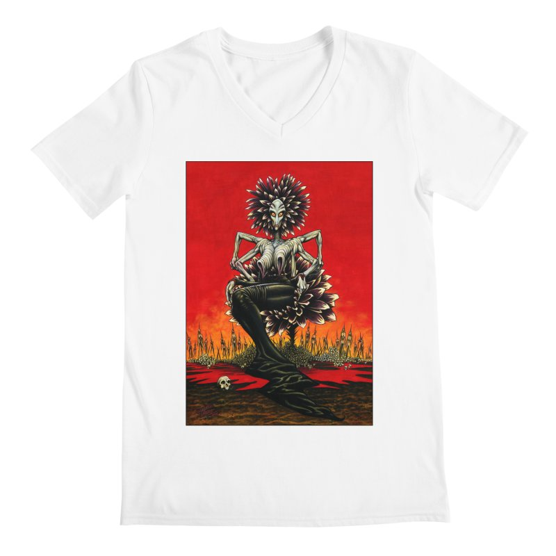 The Pain Sucker Goddess Men's V-Neck by Ferran Xalabarder's Artist Shop