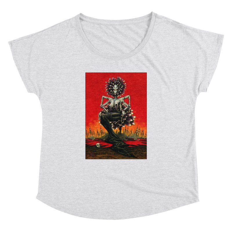 The Pain Sucker Goddess Women's Dolman Scoop Neck by Ferran Xalabarder's Artist Shop