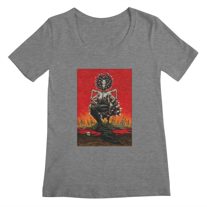 The Pain Sucker Goddess Women's Scoopneck by Ferran Xalabarder's Artist Shop