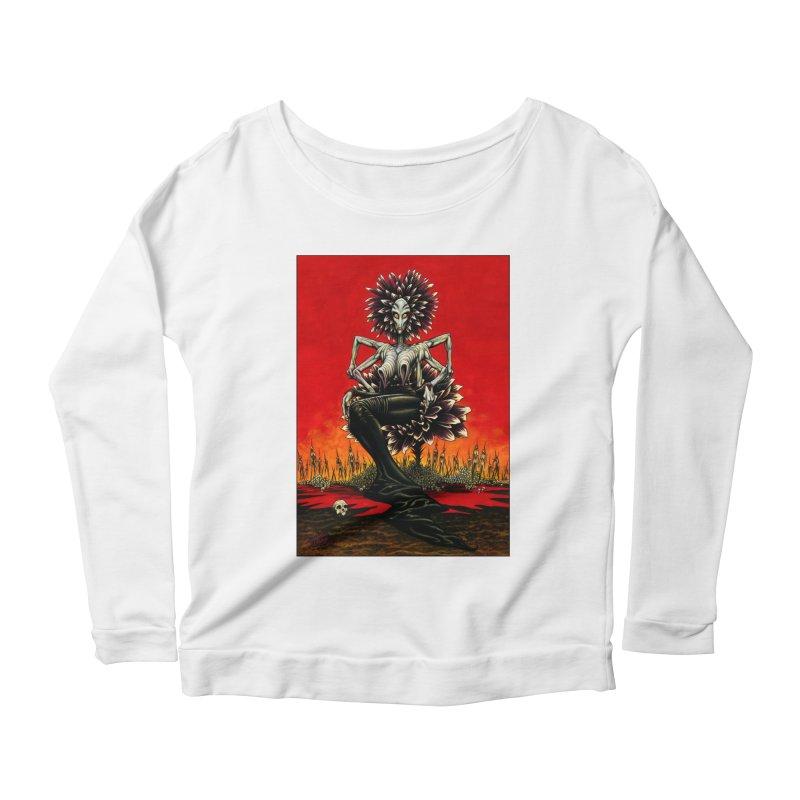 The Pain Sucker Goddess Women's Scoop Neck Longsleeve T-Shirt by Ferran Xalabarder's Artist Shop