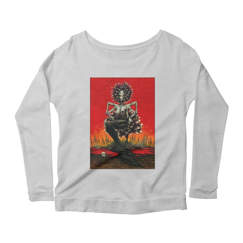 The Pain Sucker Goddess Women's Scoop Neck Longsleeve T-Shirt by Ferran Xalabarder's Artist Shop