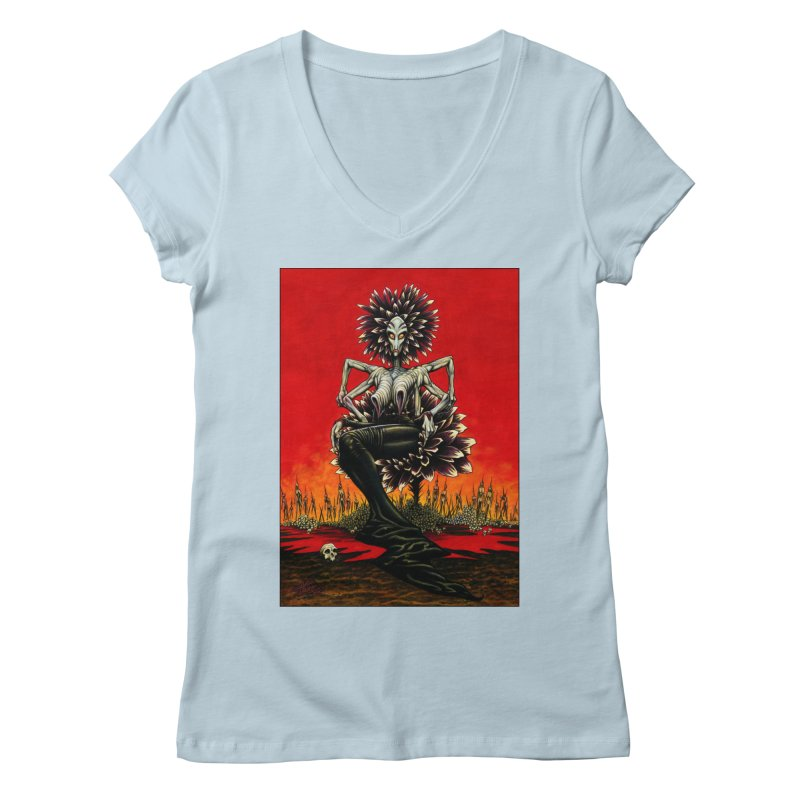 The Pain Sucker Goddess Women's V-Neck by Ferran Xalabarder's Artist Shop