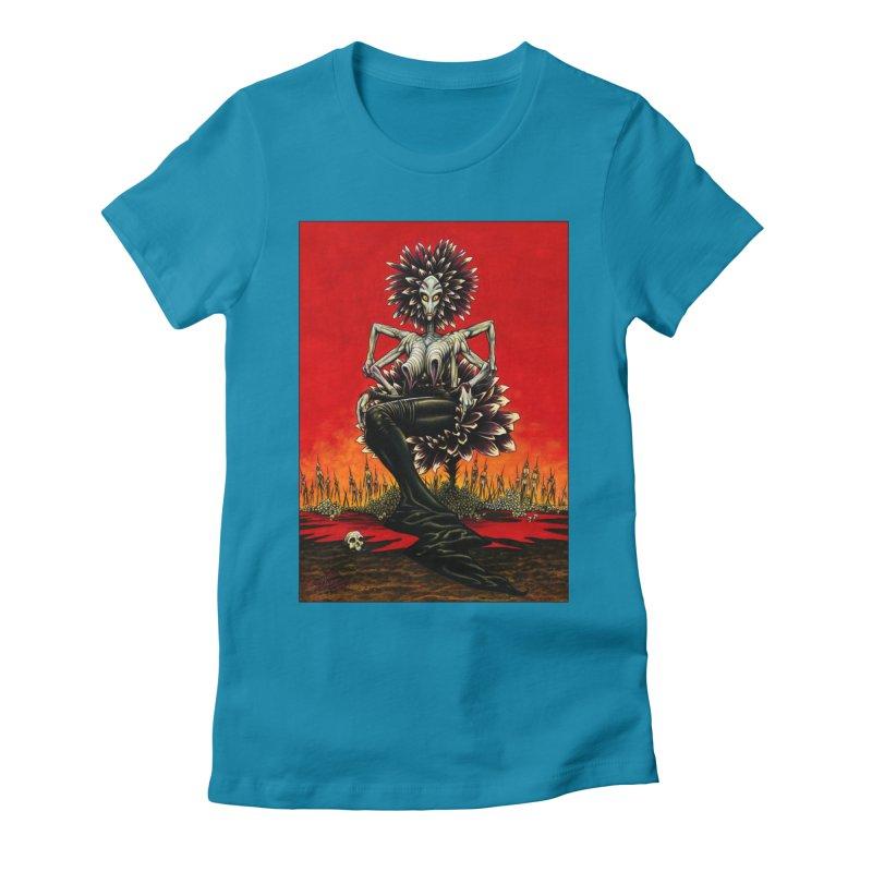 The Pain Sucker Goddess Women's Fitted T-Shirt by Ferran Xalabarder's Artist Shop
