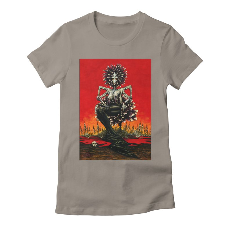 The Pain Sucker Goddess Women's Fitted T-Shirt by Ferran Xalabarder's Artist Shop