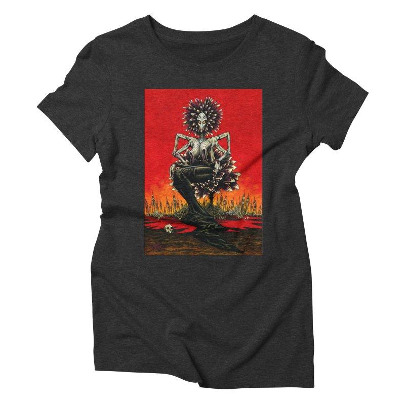 The Pain Sucker Goddess Women's Triblend T-Shirt by Ferran Xalabarder's Artist Shop