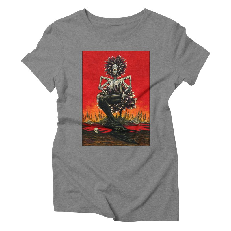 The Pain Sucker Goddess Women's Triblend T-Shirt by Ferran Xalabarder's Artist Shop