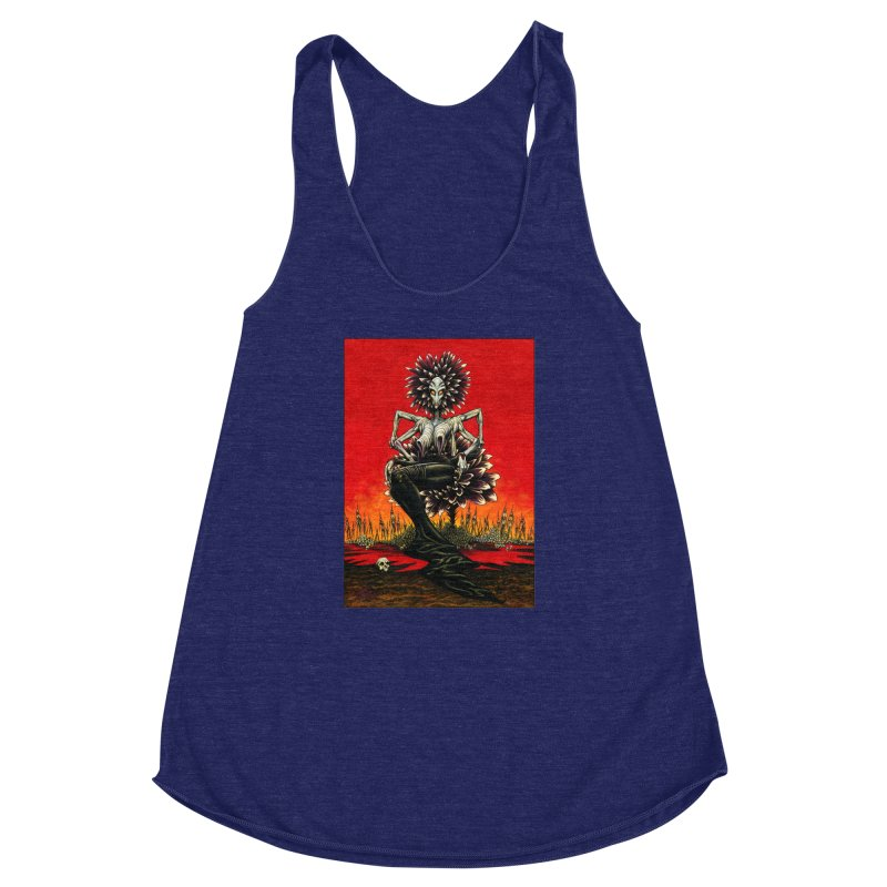 The Pain Sucker Goddess Women's Racerback Triblend Tank by Ferran Xalabarder's Artist Shop