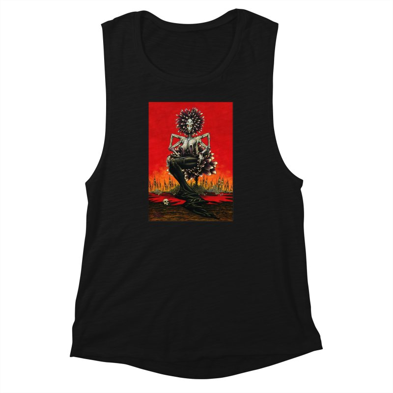 The Pain Sucker Goddess Women's Muscle Tank by Ferran Xalabarder's Artist Shop