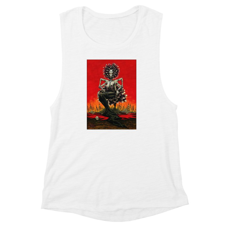 The Pain Sucker Goddess Women's Muscle Tank by Ferran Xalabarder's Artist Shop