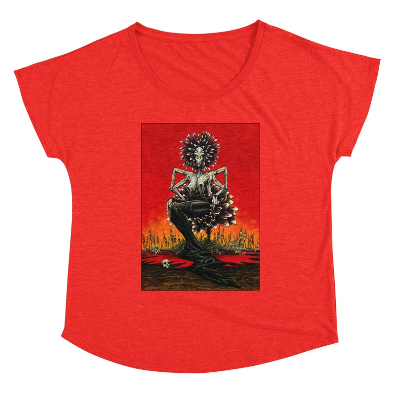 The Pain Sucker Goddess Women's Scoop Neck by Ferran Xalabarder's Artist Shop
