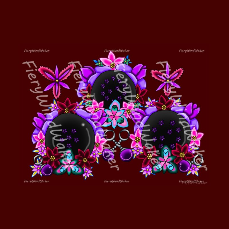 Inverted February Birthstone Dragonballs #28 Home Mounted Aluminum Print by FieryWindWaker's Artist Shop