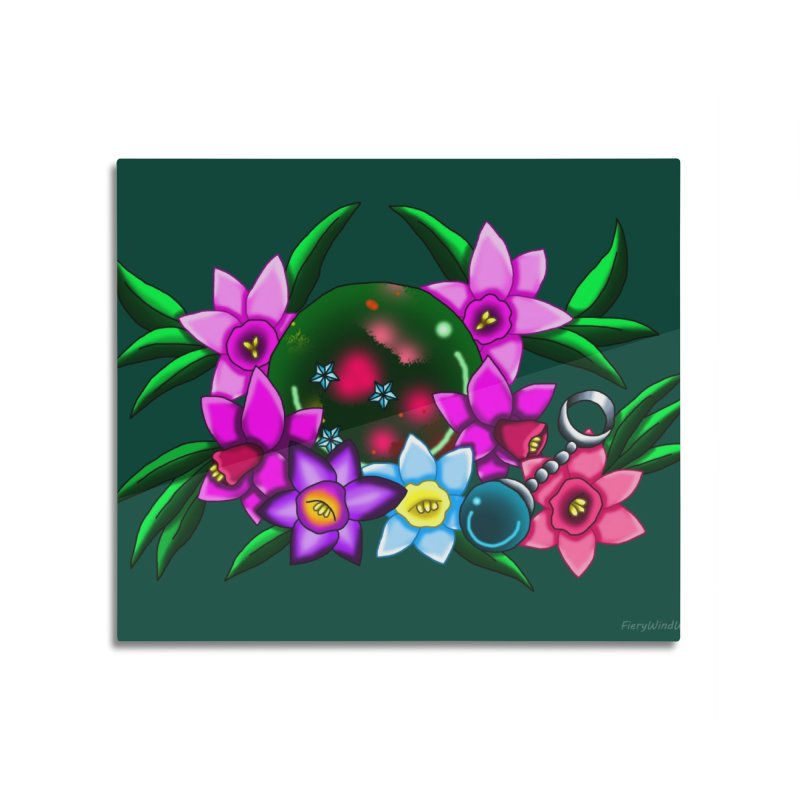Inverted March Birthstone Dragonball #3 Home Mounted Aluminum Print by FieryWindWaker's Artist Shop