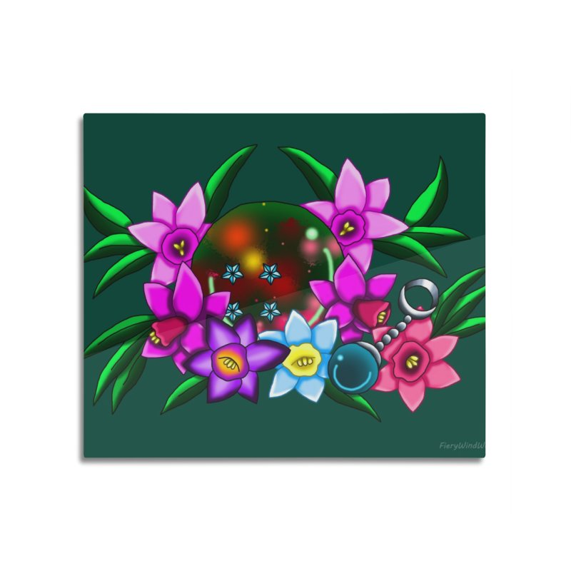 Inverted March Birthstone Dragonball #4 Home Mounted Aluminum Print by FieryWindWaker's Artist Shop