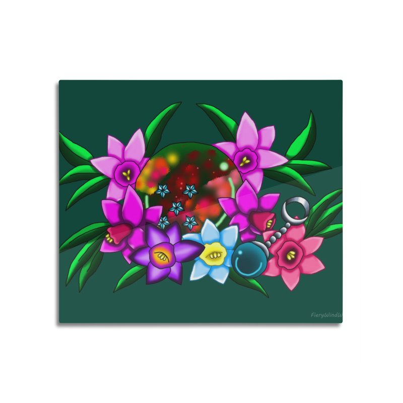 Inverted March Birthstone Dragonball #5 Home Mounted Aluminum Print by FieryWindWaker's Artist Shop