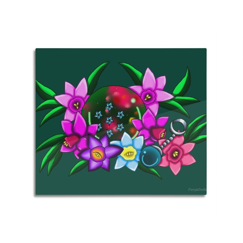 Inverted March Birthstone Dragonball #7 Home Mounted Aluminum Print by FieryWindWaker's Artist Shop