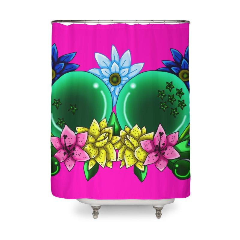 Inverted May Birthstone Dragonballs #10 Home Shower Curtain by FieryWindWaker's Artist Shop