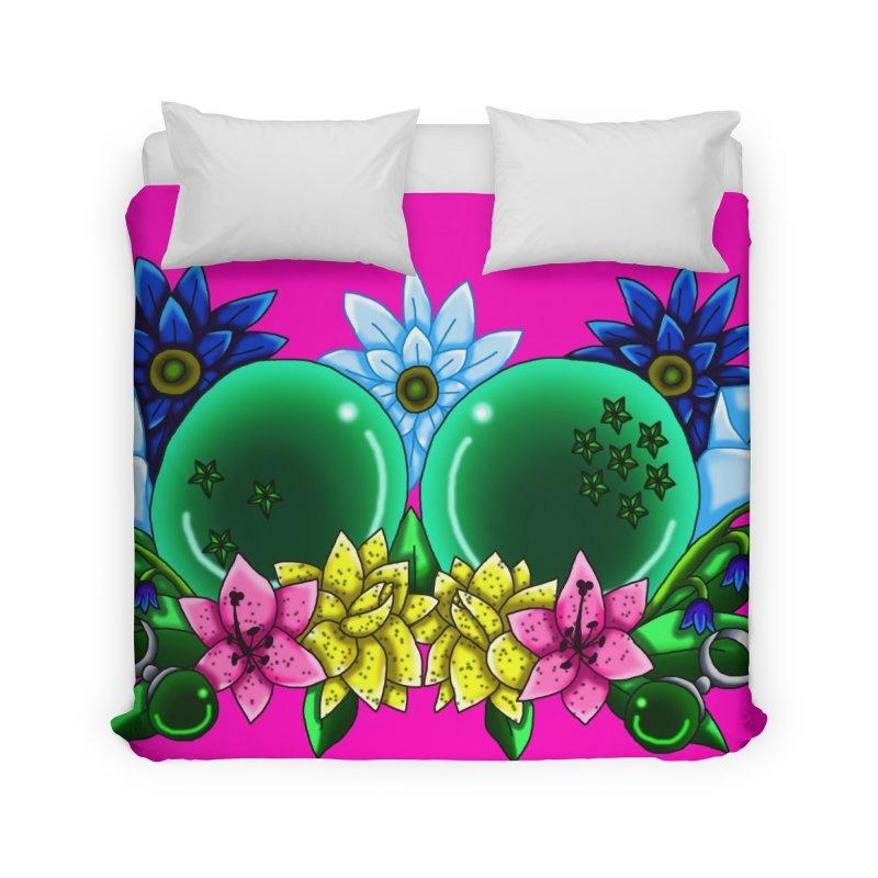 Inverted May Birthstone Dragonballs #10 Home Duvet by FieryWindWaker's Artist Shop