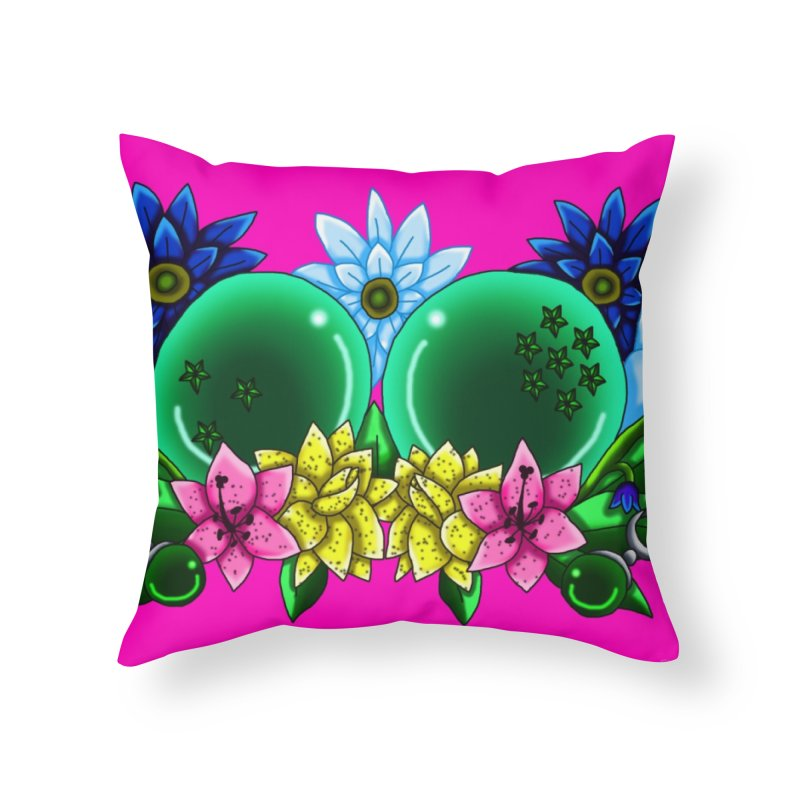 Inverted May Birthstone Dragonballs #10 Home Throw Pillow by FieryWindWaker's Artist Shop