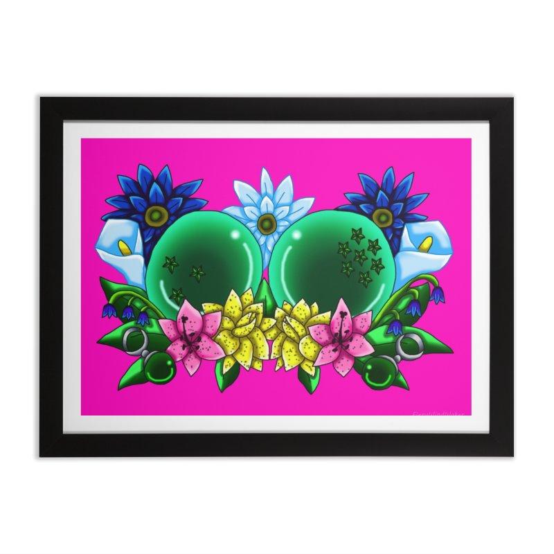 Inverted May Birthstone Dragonballs #10 Home Framed Fine Art Print by FieryWindWaker's Artist Shop
