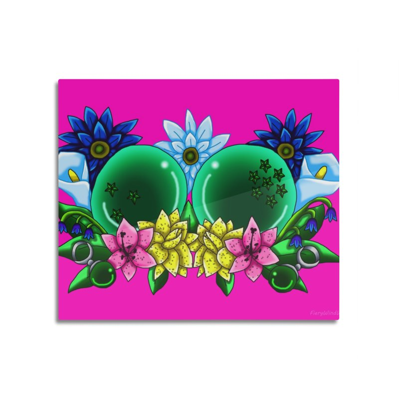 Inverted May Birthstone Dragonballs #10 Home Mounted Aluminum Print by FieryWindWaker's Artist Shop