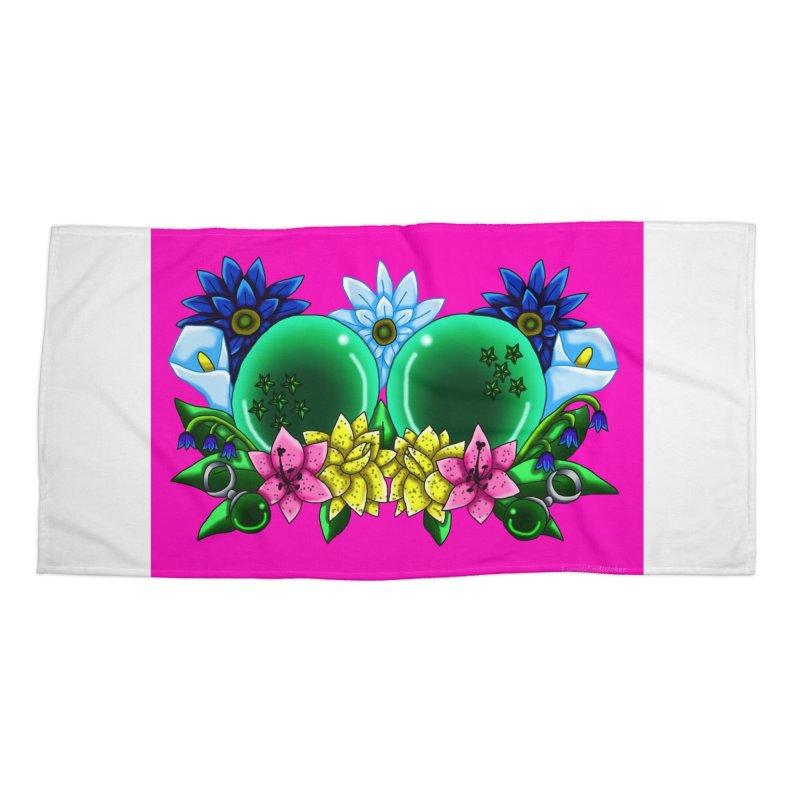 Inverted May Birthstone Dragonballs #11 Accessories Beach Towel by FieryWindWaker's Artist Shop