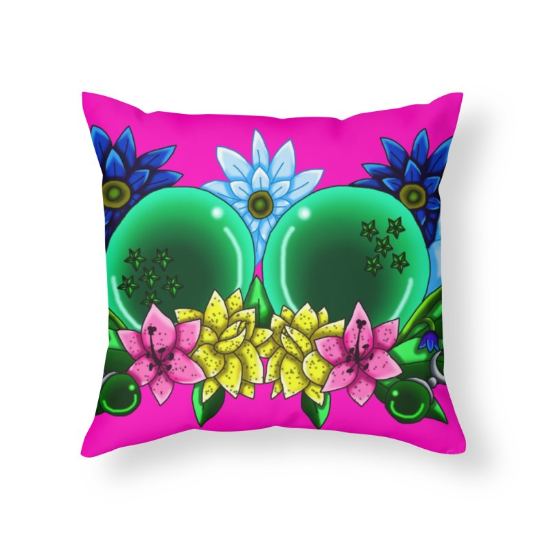 Inverted May Birthstone Dragonballs #11 Home Throw Pillow by FieryWindWaker's Artist Shop