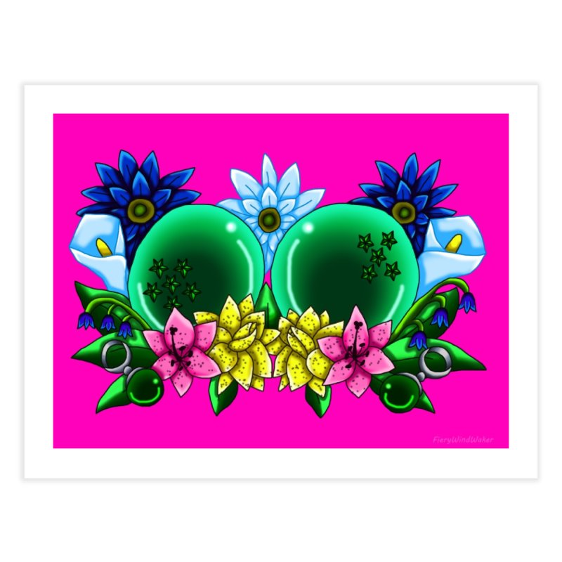 Inverted May Birthstone Dragonballs #11 Home Fine Art Print by FieryWindWaker's Artist Shop