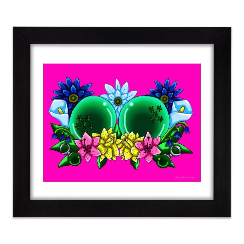 Inverted May Birthstone Dragonballs #11 Home Framed Fine Art Print by FieryWindWaker's Artist Shop