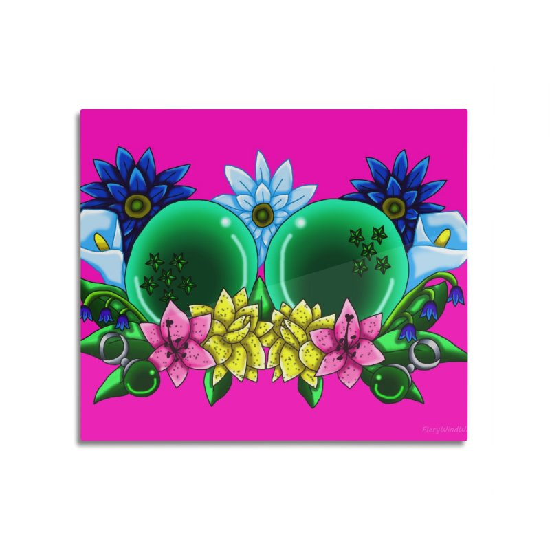 Inverted May Birthstone Dragonballs #11 Home Mounted Aluminum Print by FieryWindWaker's Artist Shop