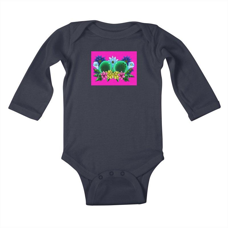 Inverted May Birthstone Dragonballs #12 Kids Baby Longsleeve Bodysuit by FieryWindWaker's Artist Shop