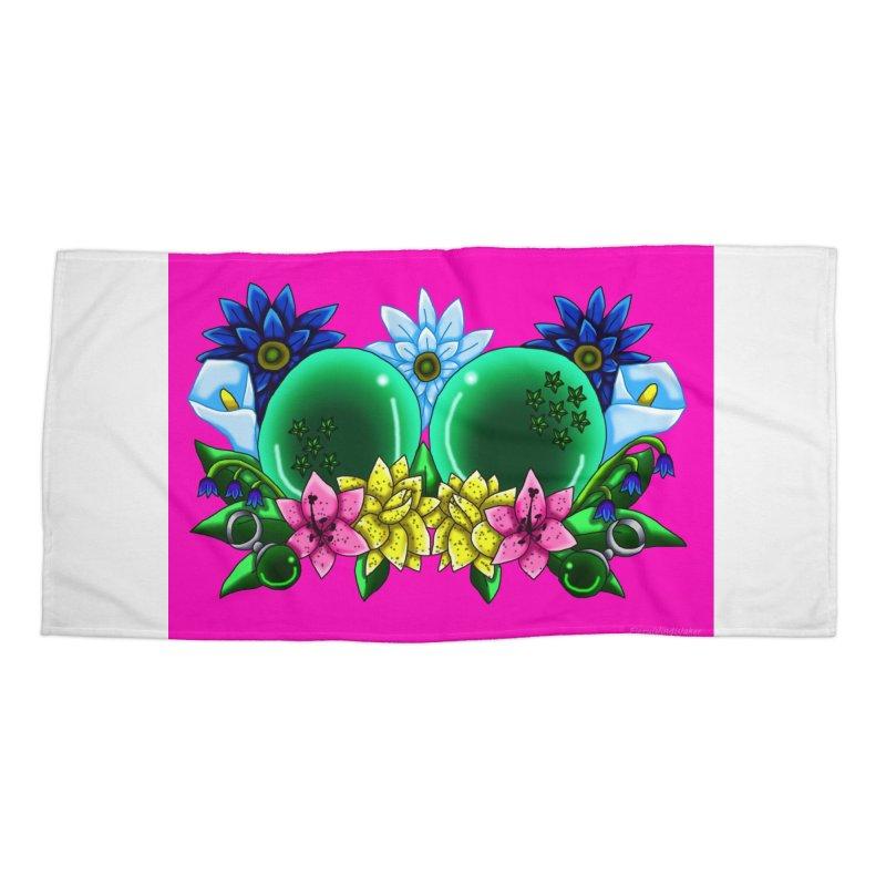 Inverted May Birthstone Dragonballs #12 Accessories Beach Towel by FieryWindWaker's Artist Shop
