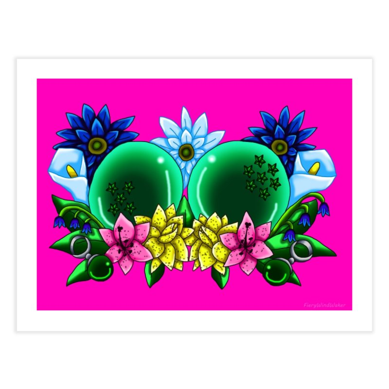 Inverted May Birthstone Dragonballs #12 Home Fine Art Print by FieryWindWaker's Artist Shop