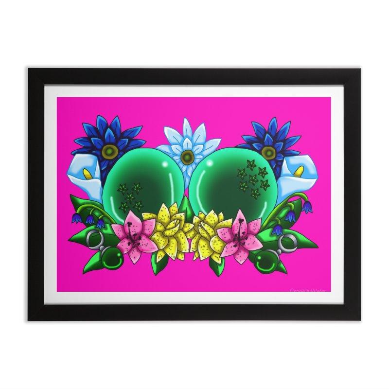 Inverted May Birthstone Dragonballs #12 Home Framed Fine Art Print by FieryWindWaker's Artist Shop