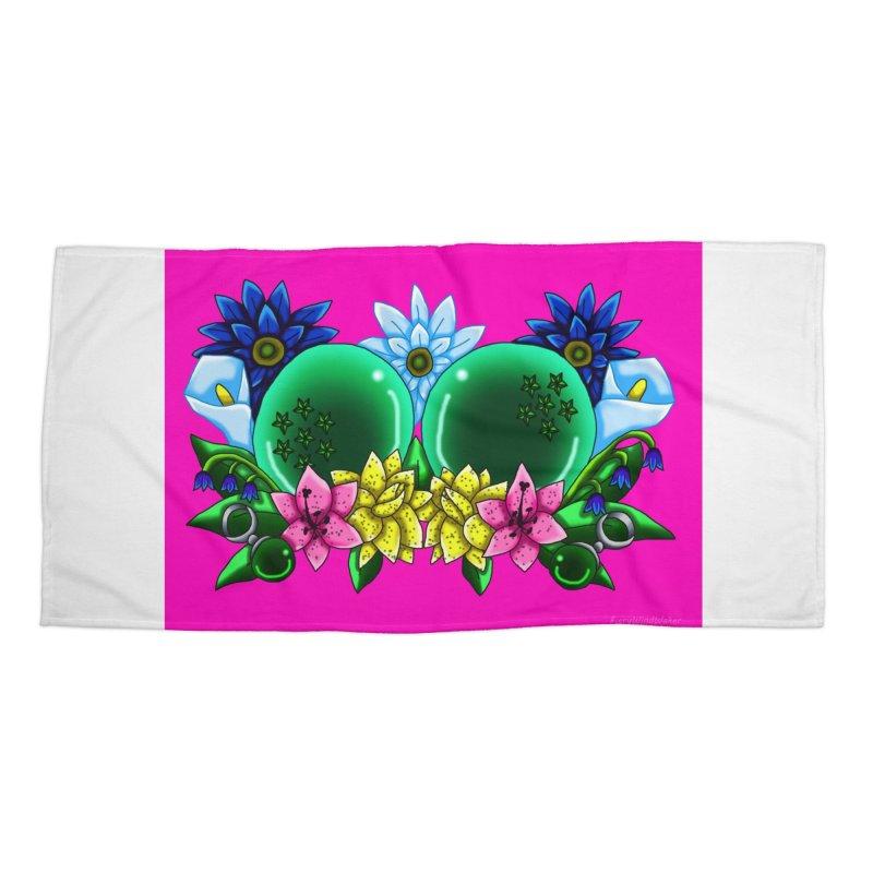 Inverted May Birthstone Dragonballs #13 Accessories Beach Towel by FieryWindWaker's Artist Shop