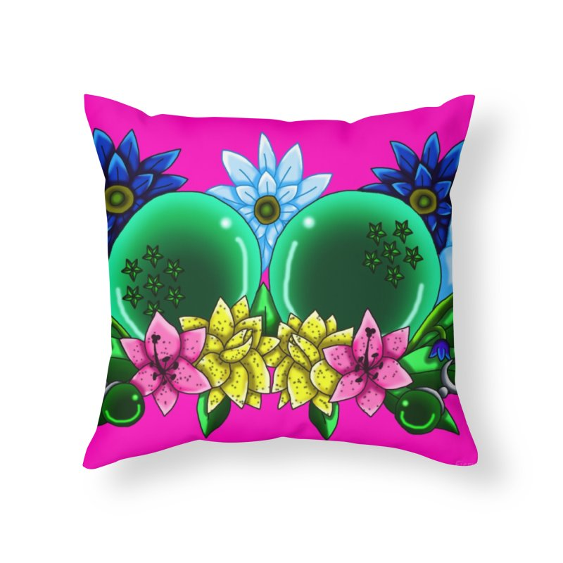 Inverted May Birthstone Dragonballs #13 Home Throw Pillow by FieryWindWaker's Artist Shop