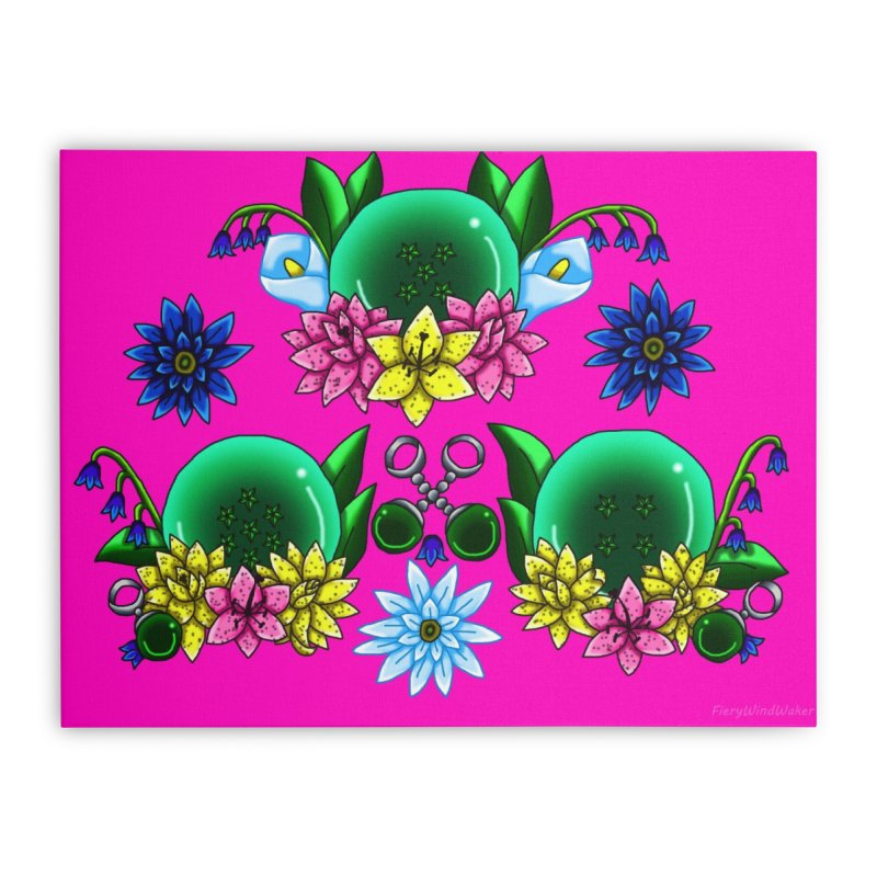 Inverted May Birthstone Dragonballs #16 Home Stretched Canvas by FieryWindWaker's Artist Shop