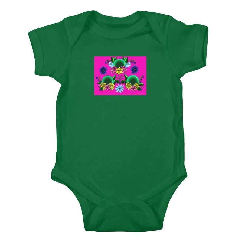 Inverted May Birthstone Dragonballs #18 Kids Baby Bodysuit by FieryWindWaker's Artist Shop