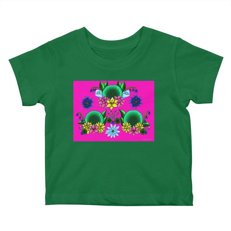 Inverted May Birthstone Dragonballs #18 Kids Baby T-Shirt by FieryWindWaker's Artist Shop