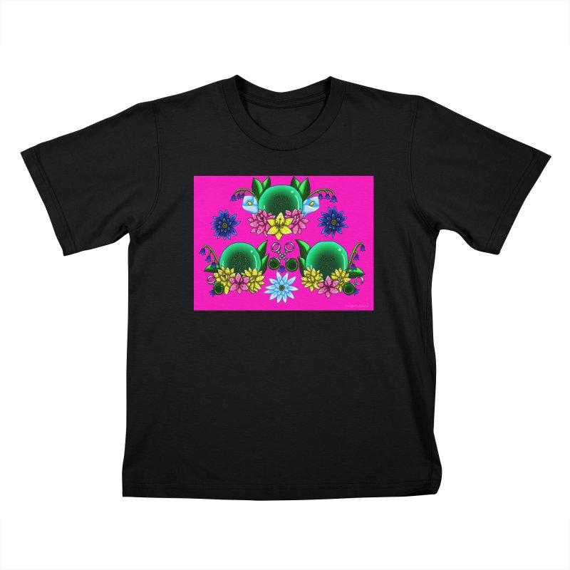 Inverted May Birthstone Dragonballs #18 Kids T-Shirt by FieryWindWaker's Artist Shop