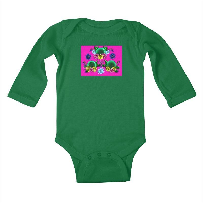 Inverted May Birthstone Dragonballs #19 Kids Baby Longsleeve Bodysuit by FieryWindWaker's Artist Shop
