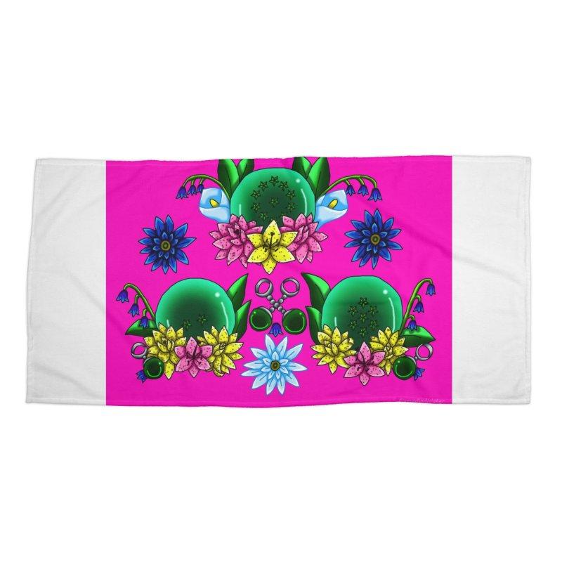 Inverted May Birthstone Dragonballs #20 Accessories Beach Towel by FieryWindWaker's Artist Shop