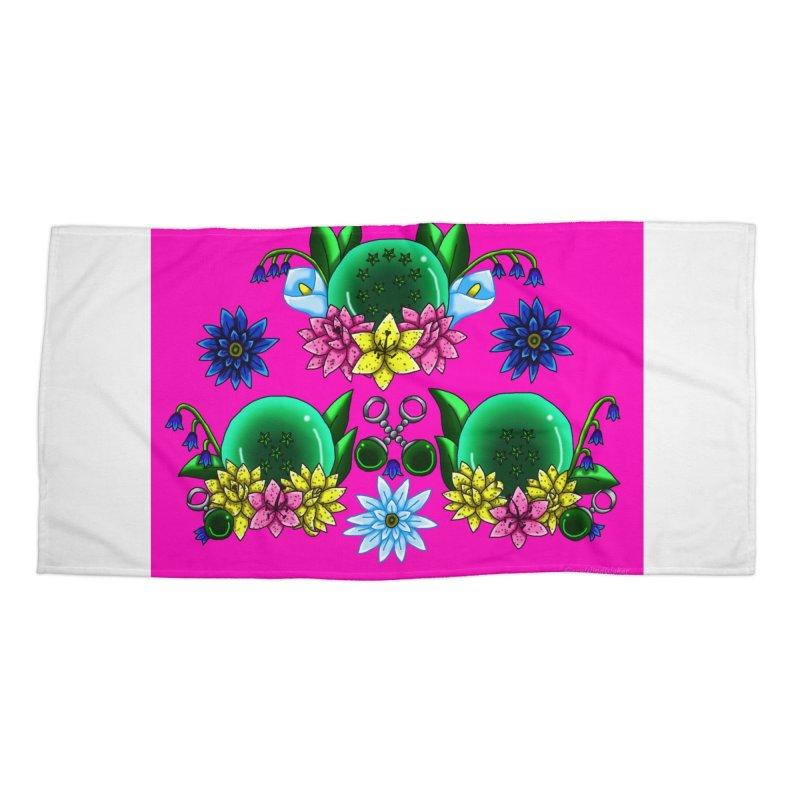 Inverted May Birthstone Dragonballs #23 Accessories Beach Towel by FieryWindWaker's Artist Shop