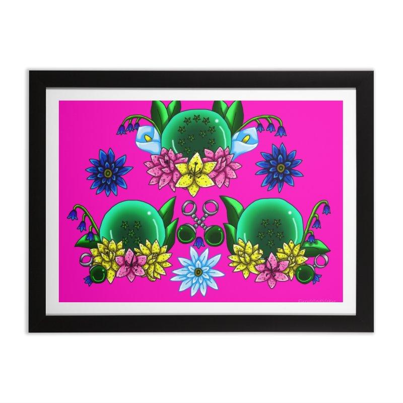 Inverted May Birthstone Dragonballs #23 Home Framed Fine Art Print by FieryWindWaker's Artist Shop