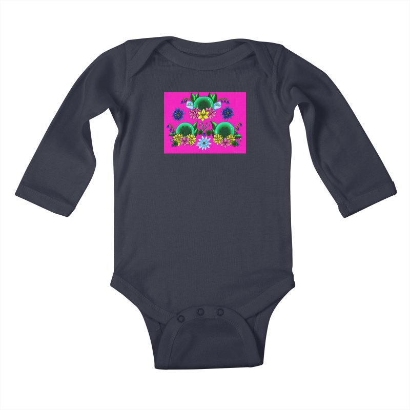 Inverted May Birthstone Dragonballs #25 Kids Baby Longsleeve Bodysuit by FieryWindWaker's Artist Shop