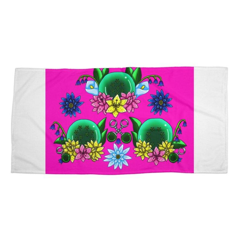 Inverted May Birthstone Dragonballs #25 Accessories Beach Towel by FieryWindWaker's Artist Shop