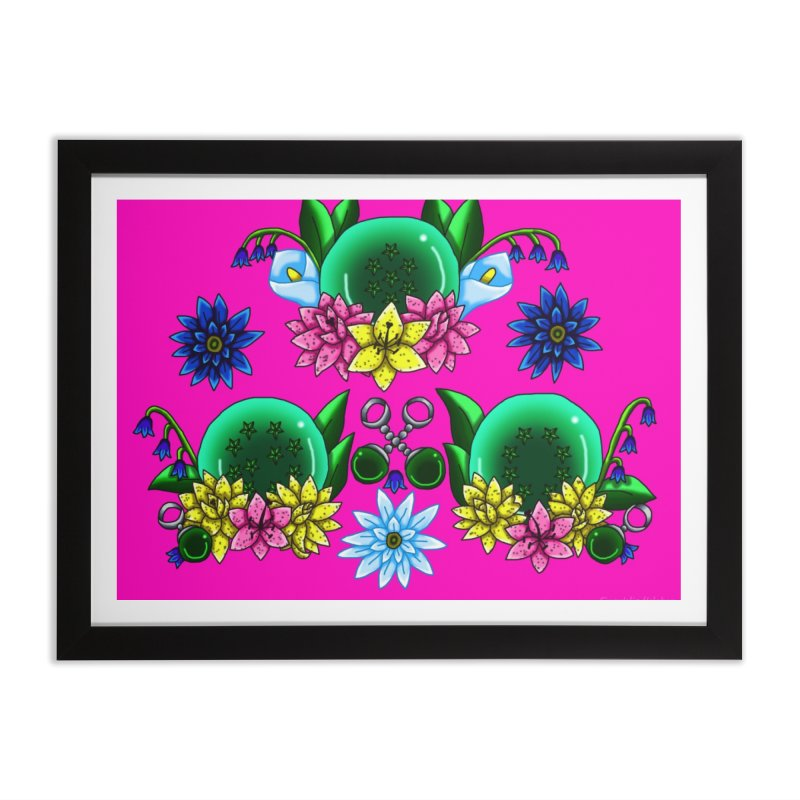 Inverted May Birthstone Dragonballs #25 Home Framed Fine Art Print by FieryWindWaker's Artist Shop