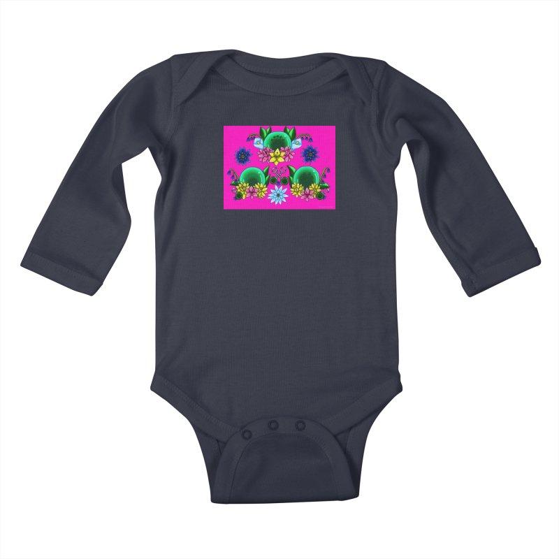 Inverted May Birthstone Dragonballs #26 Kids Baby Longsleeve Bodysuit by FieryWindWaker's Artist Shop