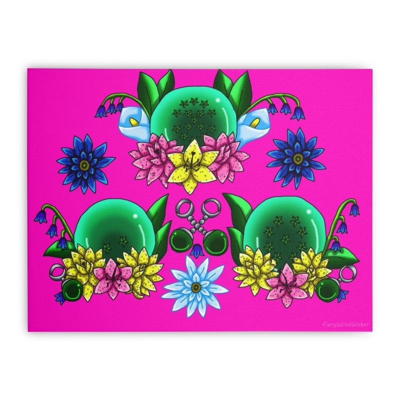 Inverted May Birthstone Dragonballs #26 Home Stretched Canvas by FieryWindWaker's Artist Shop